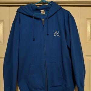 Alan Walker Blue Hoodie w/Dual Zipper - Size L